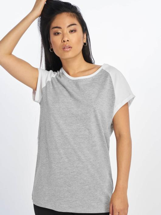 Urban Classics T-Shirty Contrast szary