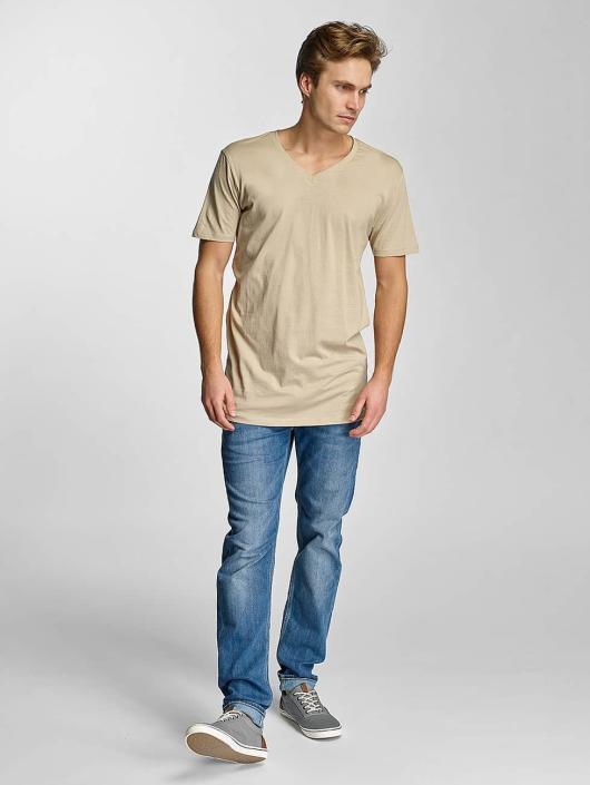 Urban Classics T-skjorter Basic V-Neck beige