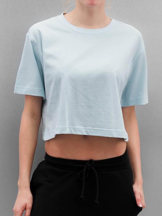 Urban Classics T-skjorter Ladies Oversized Short blå