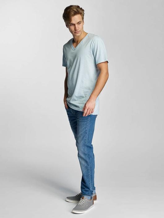 Urban Classics T-skjorter Basic V-Neck blå