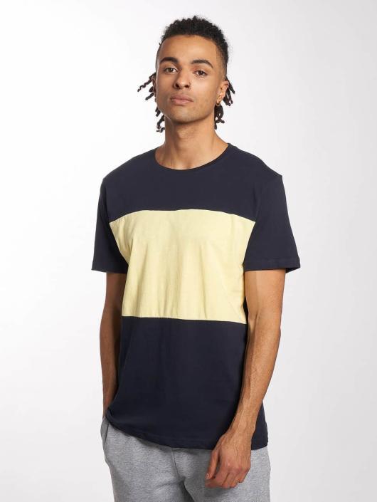 Urban Classics T-skjorter Contrast Panel blå