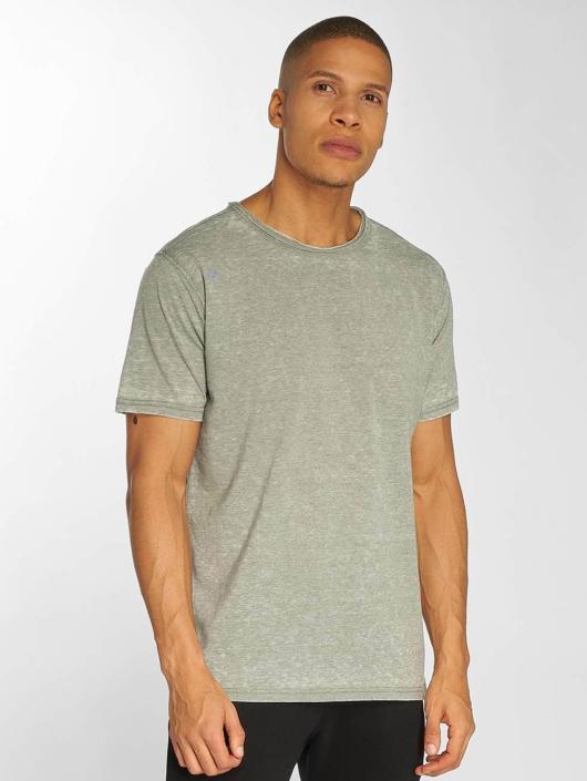 Urban Classics T-skjorter Stripe Burn Out grå