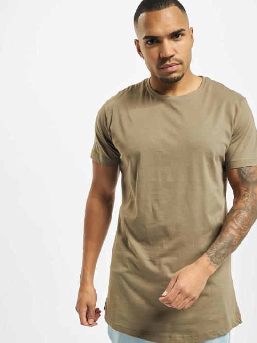 Urban Classics T-skjorter Shaped Oversized Long grøn