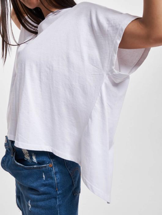 Urban Classics T-skjorter Overlap Turtleneck hvit