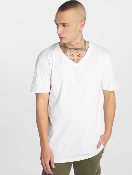 Urban Classics T-skjorter Basic V-Neck hvit