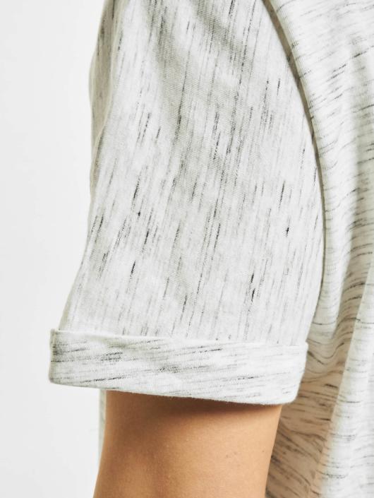 Urban Classics T-skjorter Long Space Dye Turn Up hvit