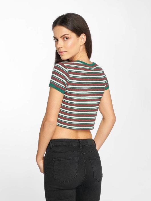 Urban Classics T-skjorter Rib Stripe Cropped hvit