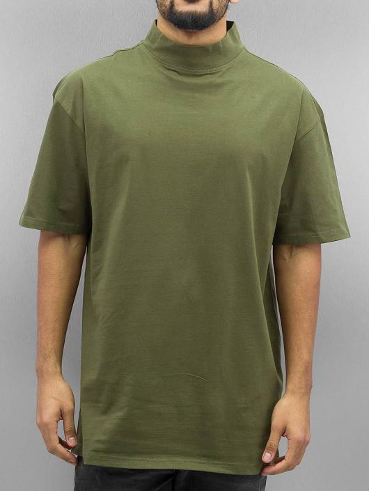 Urban Classics T-skjorter Oversized Turtleneck oliven