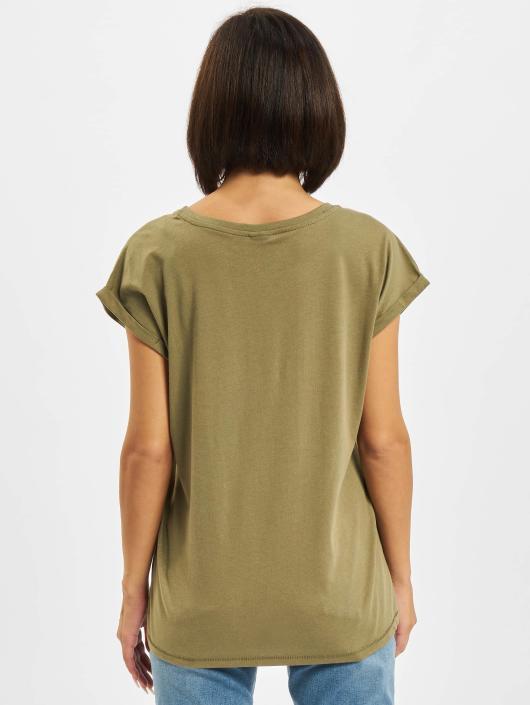 Urban Classics T-skjorter Extended Shoulder oliven