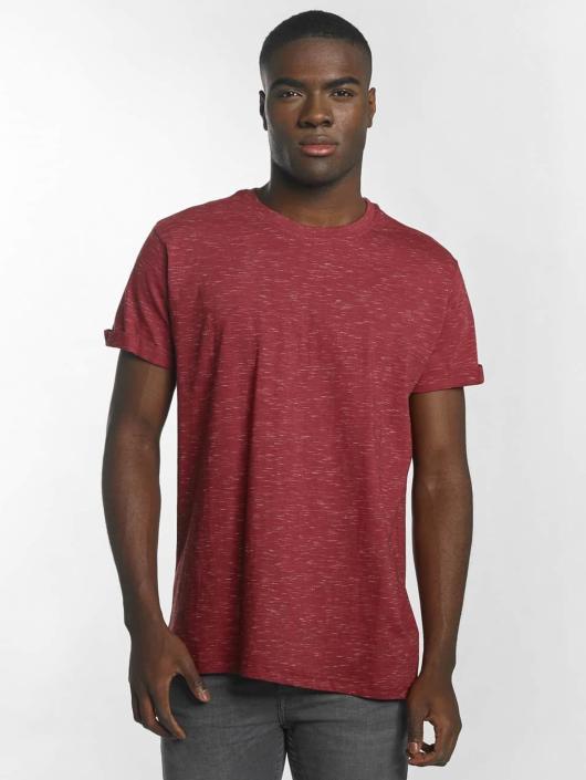 Urban Classics T-skjorter Space Dye Turnup red