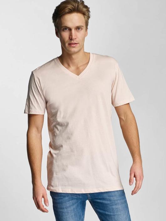 Urban Classics T-skjorter Basic V-Neck rosa