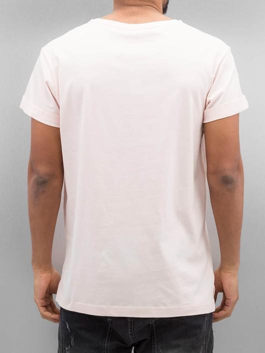 Urban Classics T-skjorter Turnup rosa