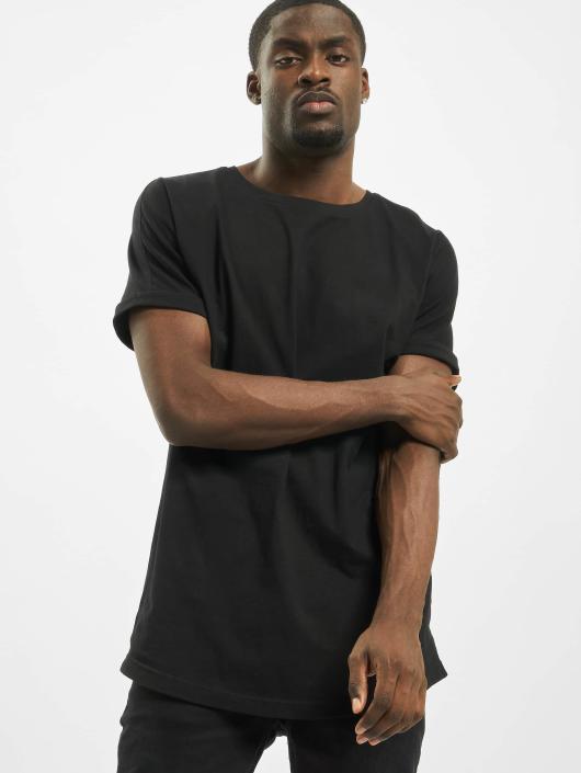 Urban Classics T-skjorter Long Shaped Turnup svart