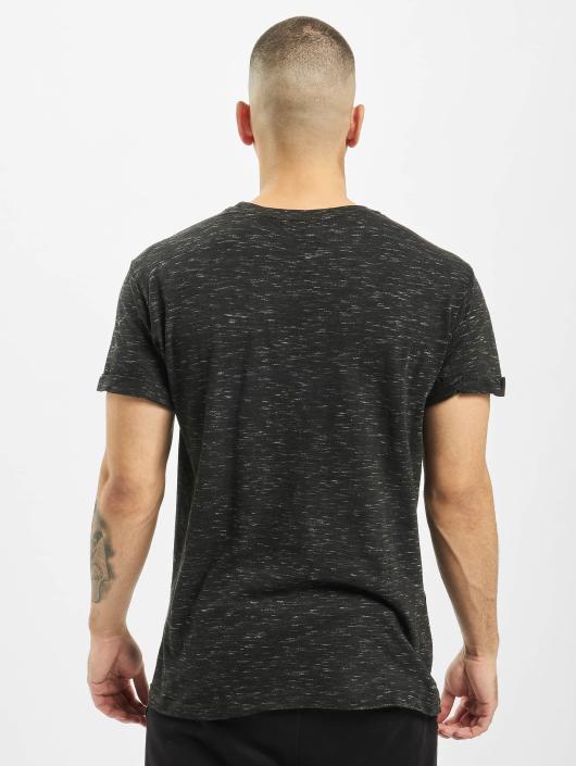 Urban Classics T-skjorter Space Dye Turnup svart