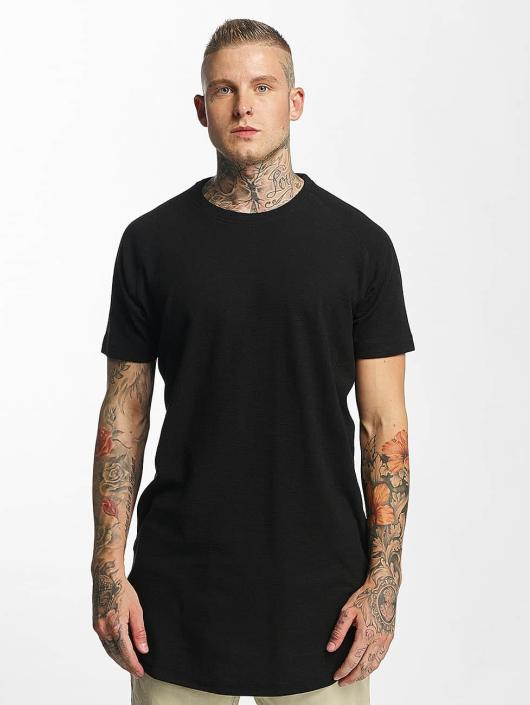 Urban Classics T-skjorter Thermal Slub Raglan svart