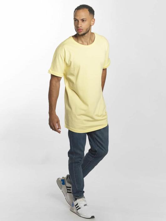 Urban Classics Tall Tees Long Shaped Turnup žlutý