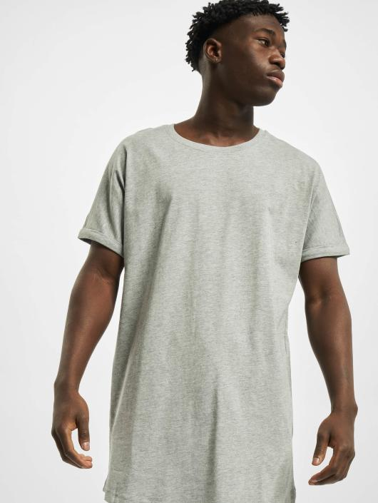 Urban Classics Tall Tees Long Shaped Turnup серый