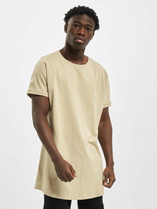 Urban Classics Tall Tees Long Shaped Turnup beige