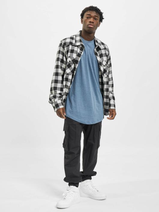 Urban Classics Tall Tees Shaped Melange Oversized Long modrá