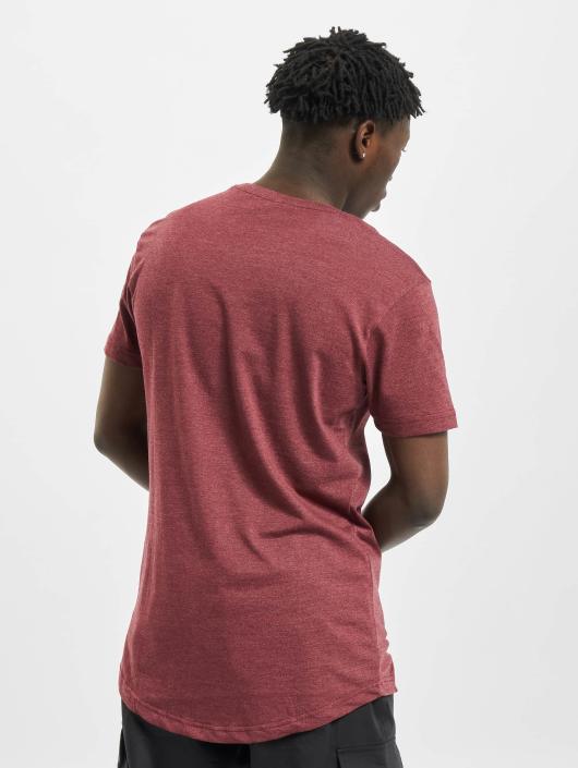 Urban Classics Tall Tees Shaped Melange Long rojo