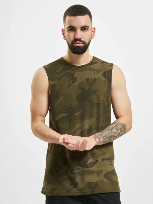 Urban Classics Tank Tops Camo camouflage
