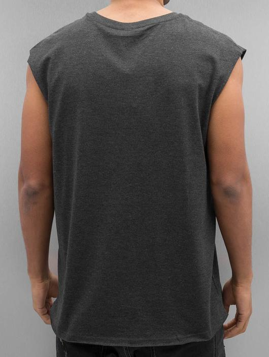 Urban Classics Tank Tops Open Edge Sleeveless grå