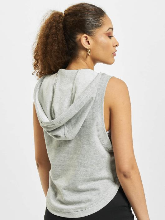 Urban Classics Tank Tops Terry Hooded grå