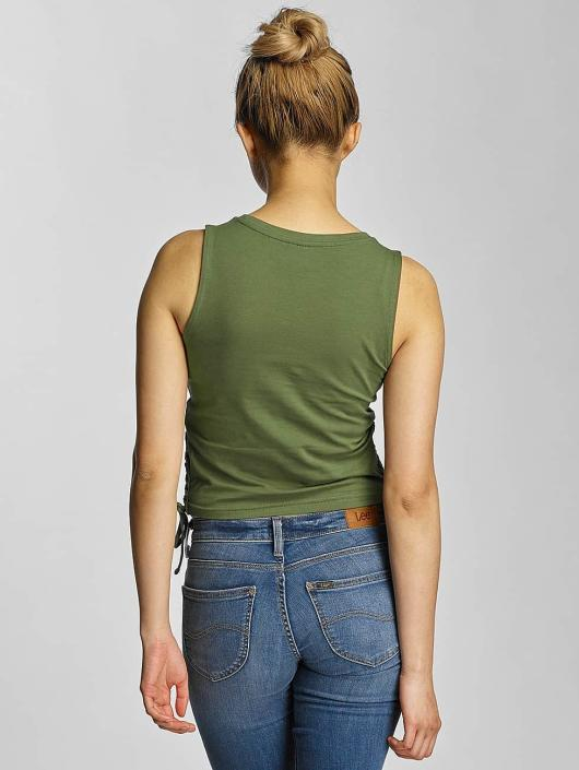Urban Classics Tank Tops Lace Up Cropped olive