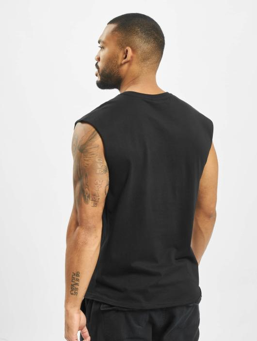 Urban Classics Tank Tops Open Edge Sleeveless svart