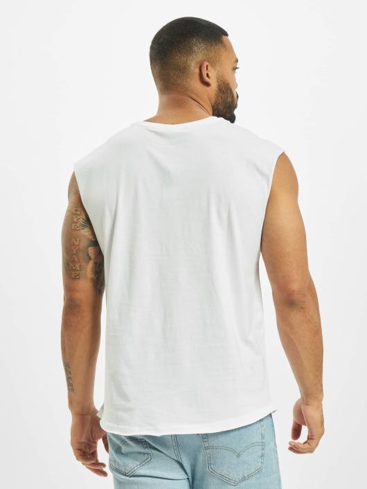 Urban Classics Tank Tops Open Edge Sleeveless white