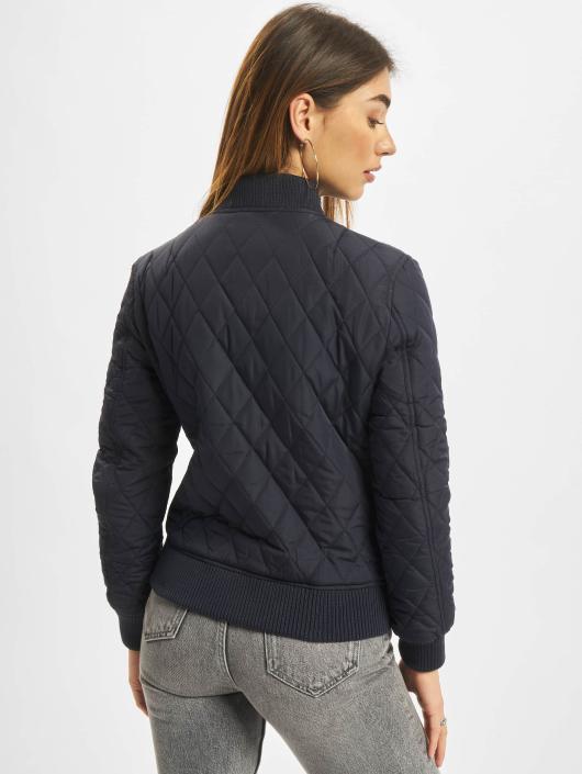 Urban Classics Teddy Diamond Quilt Nylon bleu