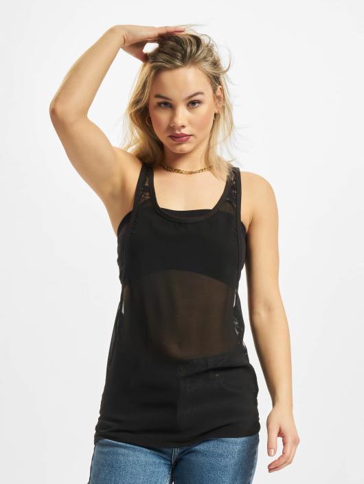 Urban Classics Top Ladies Chiffon Loose black