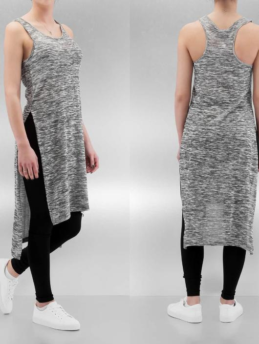 Urban Classics Top Melange High Low Long gray