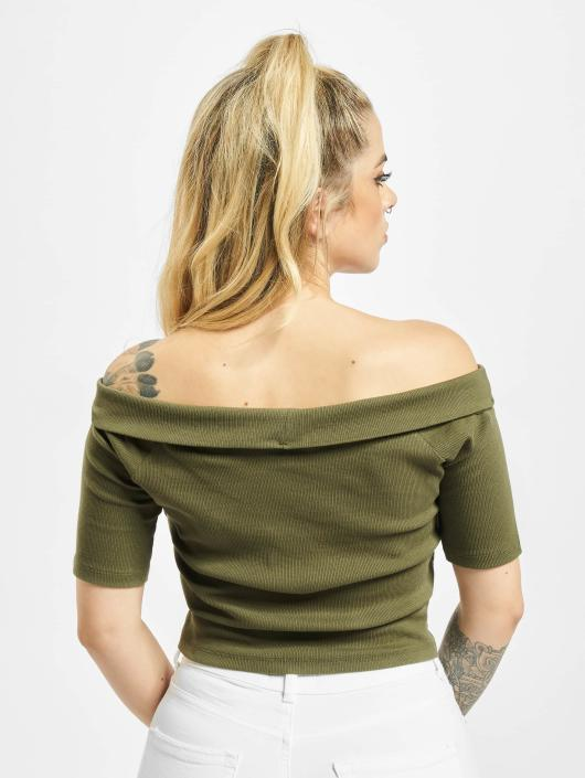 Urban Classics Top Off Shoulder olive