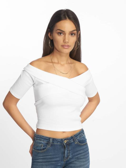 Urban Classics Top Off Shoulder weiß