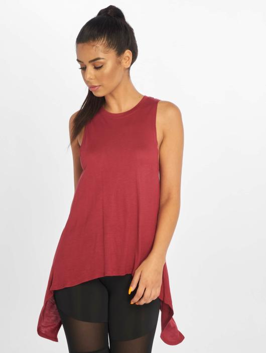 Urban Classics Tops Ladies HiLo Viscose czerwony