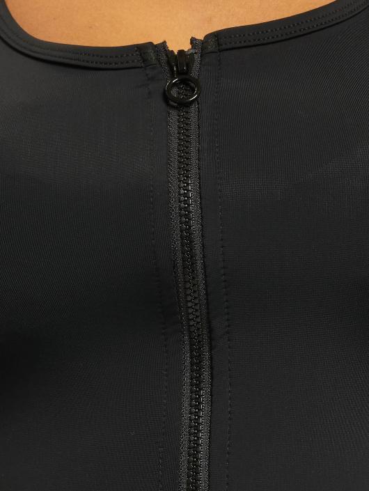 Urban Classics Topy/Tielka Side Stripe Crop Zip èierna