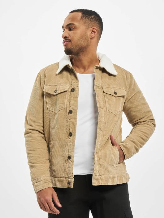 Urban Classics Transitional Jackets Sherpa Corduroy beige