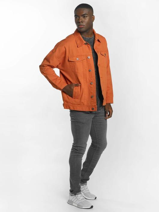 Urban Classics Transitional Jackets Garment Dye Oversize oransje
