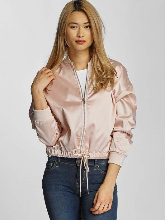 Urban Classics Transitional Jackets Ladies Satin Kimono rosa