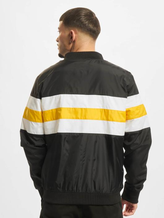 Urban Classics Transitional Jackets Striped Nylon svart