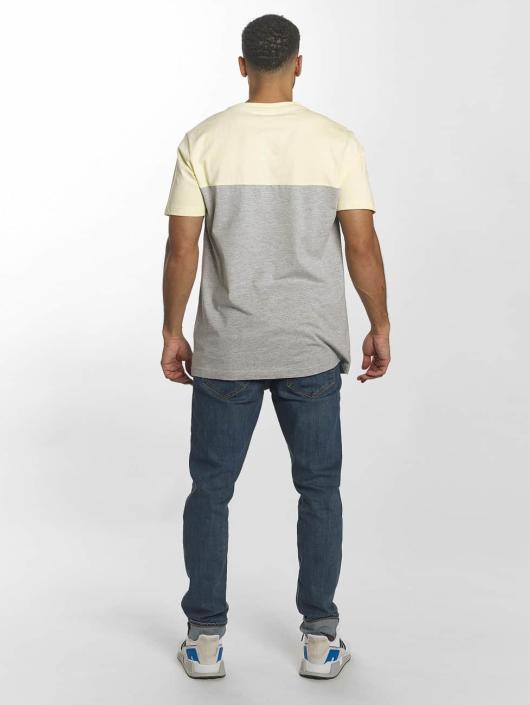 Urban Classics Tričká Color Block Summer Pocket šedá