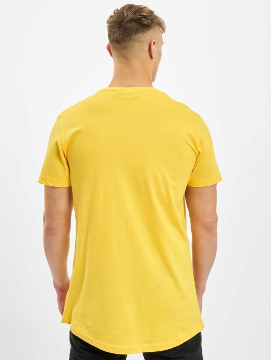 Urban Classics Tričká Shaped Oversized Long žltá