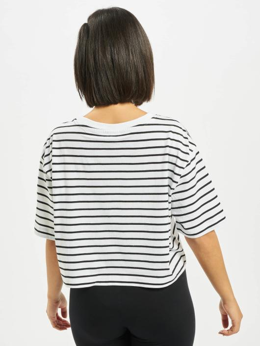 Urban Classics Tričká Ladies Striped Oversized biela
