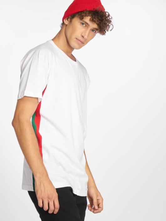Urban Classics Tričká Side Stripe Raglan biela