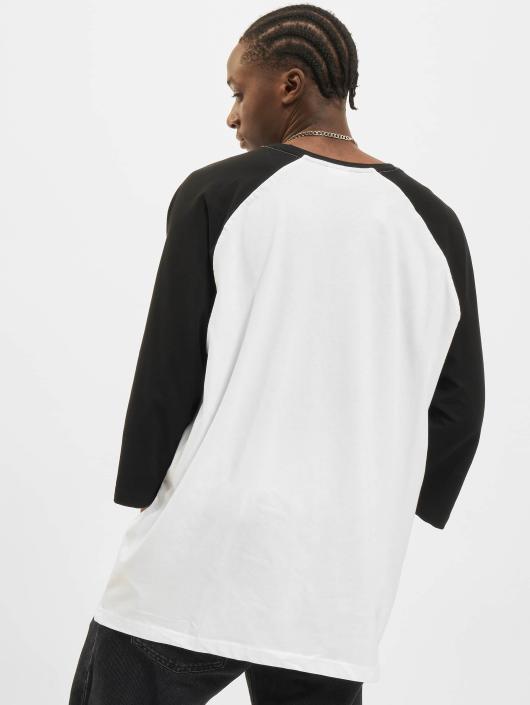 Urban Classics Tričká Contrast 34 Sleeve Raglan biela