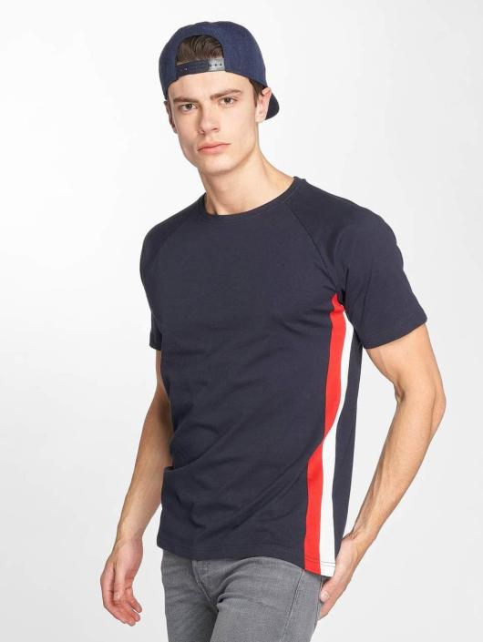 Urban Classics Tričká Side Stripe Raglan modrá