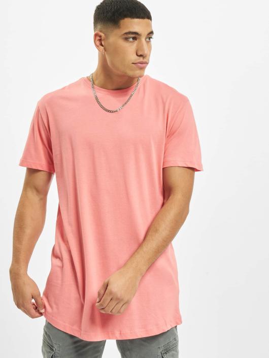 Urban Classics Tričká Shaped Long pink