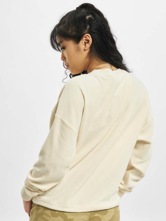 Urban Classics trui Oversized Velvet beige