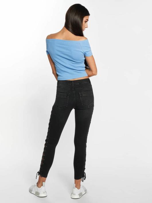 Urban Classics Tynne bukser Lace Up Denim svart